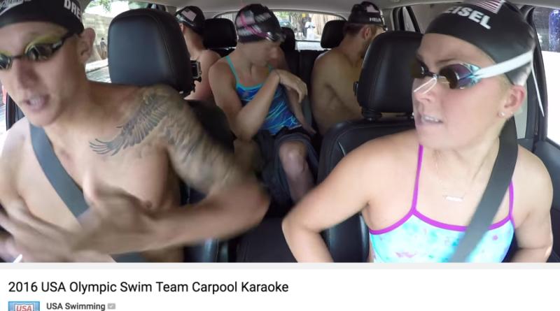 Team-Spirit: US-Schwimmer und Bus-Karaoke