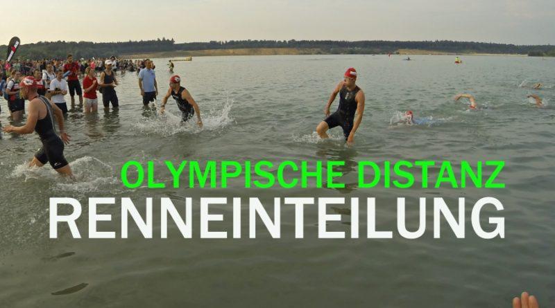 Renneinteilung Triathlon: Olympische Distanz 1.5-40-10km