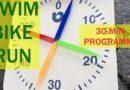 30-Minuten-Programme für Schwimmen, Radfahren und Laufen