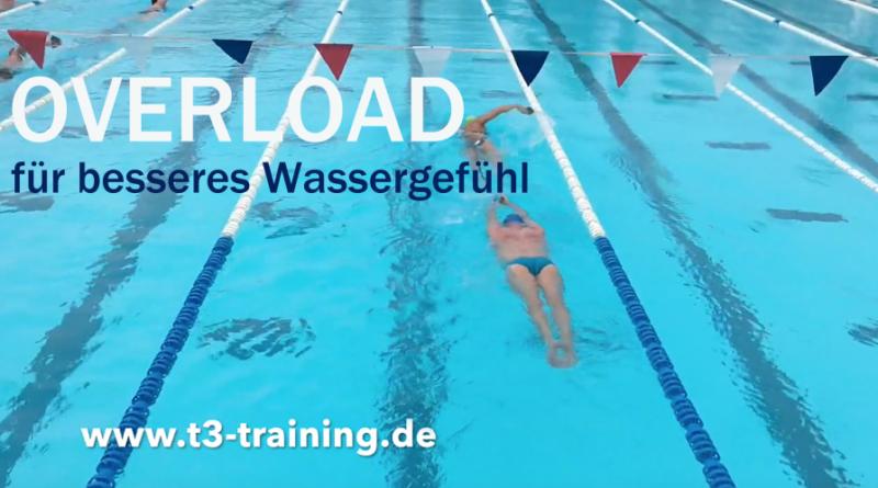 Trainingstipp Overload: Partner ziehen im Wasser
