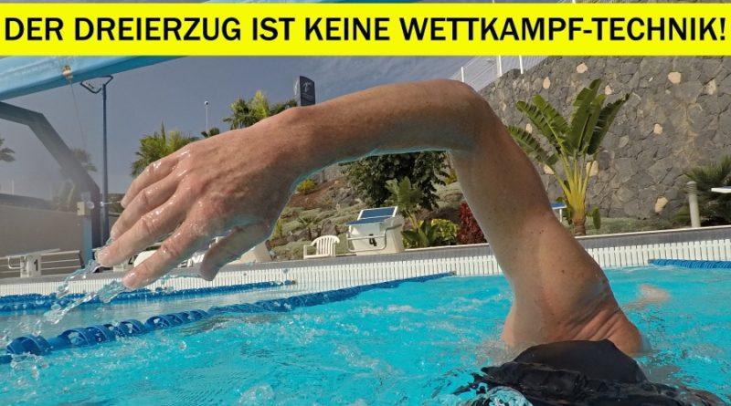 Schwimmen: Der Dreierzug ist keine Wettkampf-Technik