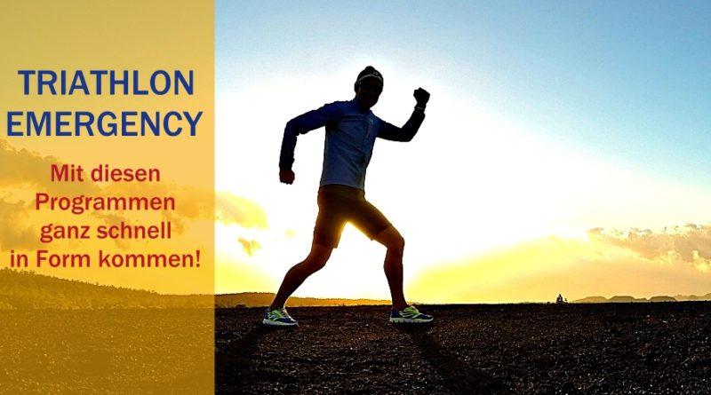 Triathlon Emergency: So kommt man schnell in Form