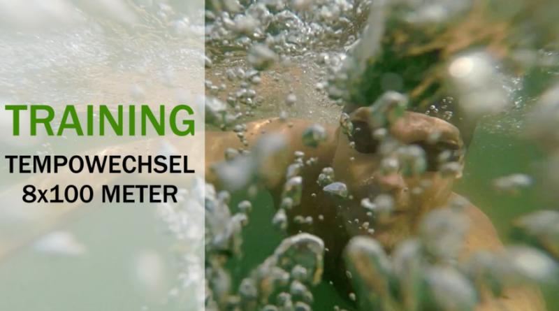 Schwimmtraining: Tempowechsel 8x100m