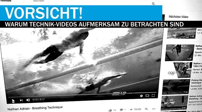 Schwimm-Technik: Das Problem der youtube-Videos