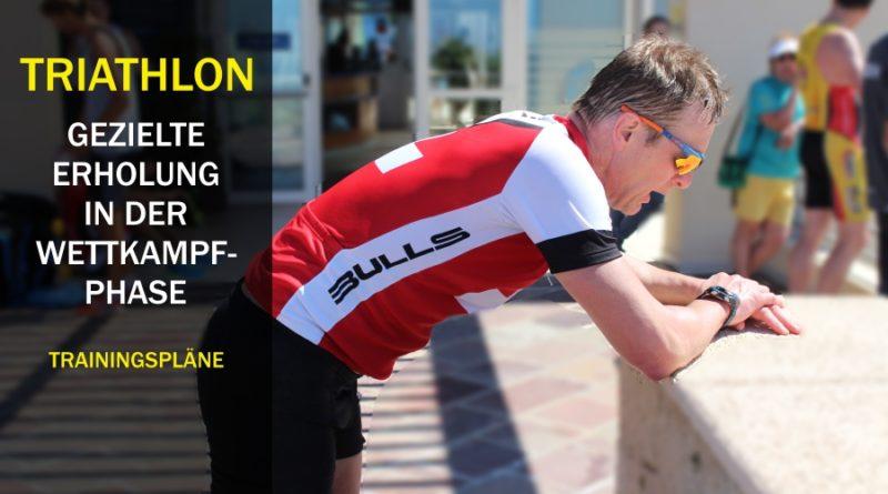 Triathlon: Gezielte und aktive Regeneration in der Wettkampfphase