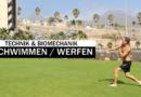 Schwimmen und Werfen: ein Vergleich