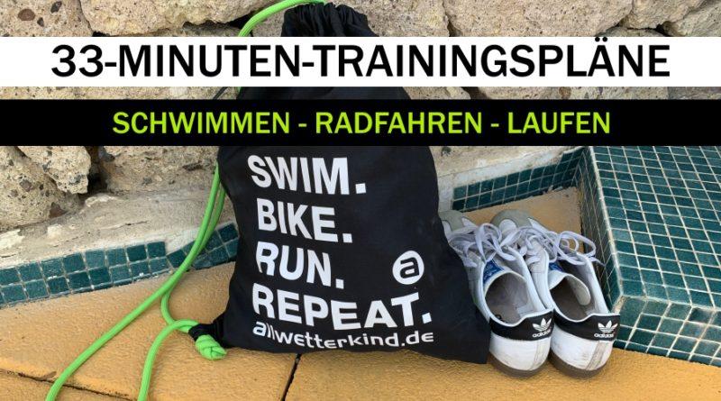 Triathlon Training: Programme für 3×33 Minuten