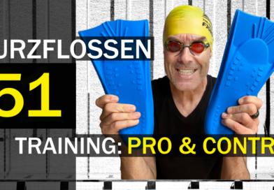 Schwimmen: Training mit Kurzflossen Pro&Contra