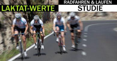 Vergleich Laktatwerte beim Radfahren und Laufen
